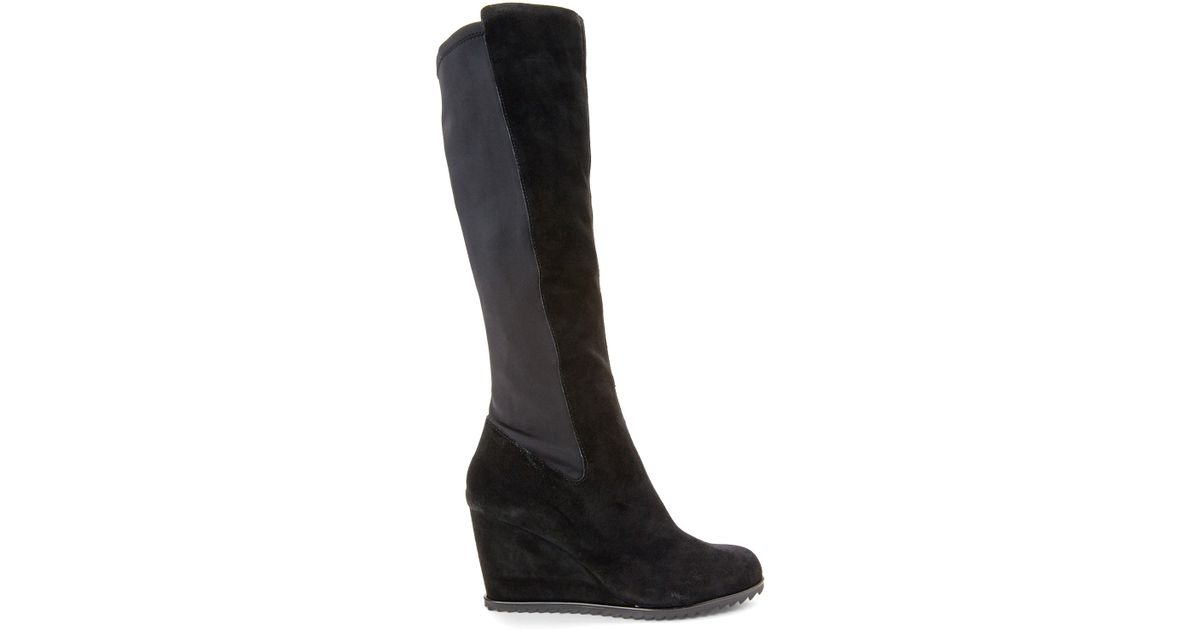 kenneth cole reaction black hike wedge boots in