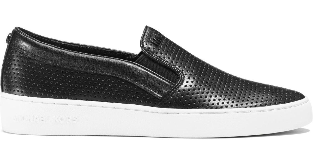 Michael kors Keaton Perforated-leather Slip-on Sneaker in ...