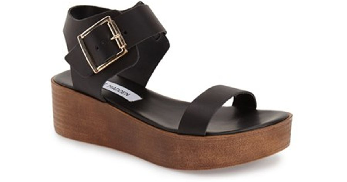 94163be1727 Lyst - Steve Madden Madylynn Platform Sandals in Black