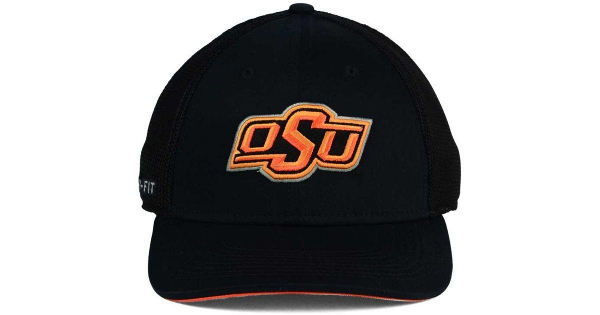 16b49980a35bb Lyst - Nike Oklahoma State Cowboys L91 Mesh Swoosh Flex Cap in Black for Men