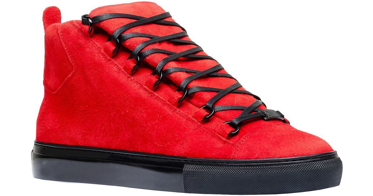Lyst - Balenciaga Holiday Collection High Sneakers in Red for Men 200393a9cee6