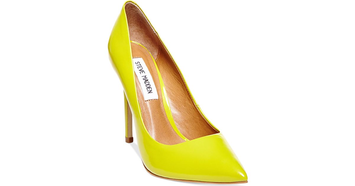 21a1d7451aa Lyst - Steve Madden Women s Proto Pumps in Yellow