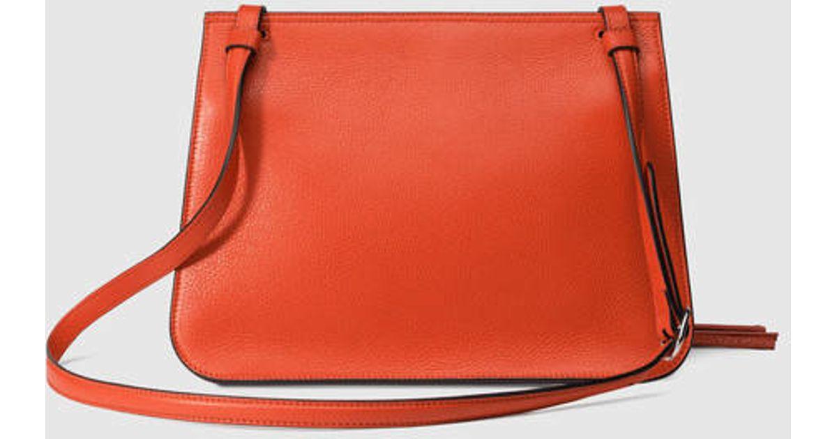 1f3ddc4f4b45 Lyst - Gucci Bamboo Daily Leather Shoulder Bag in Orange