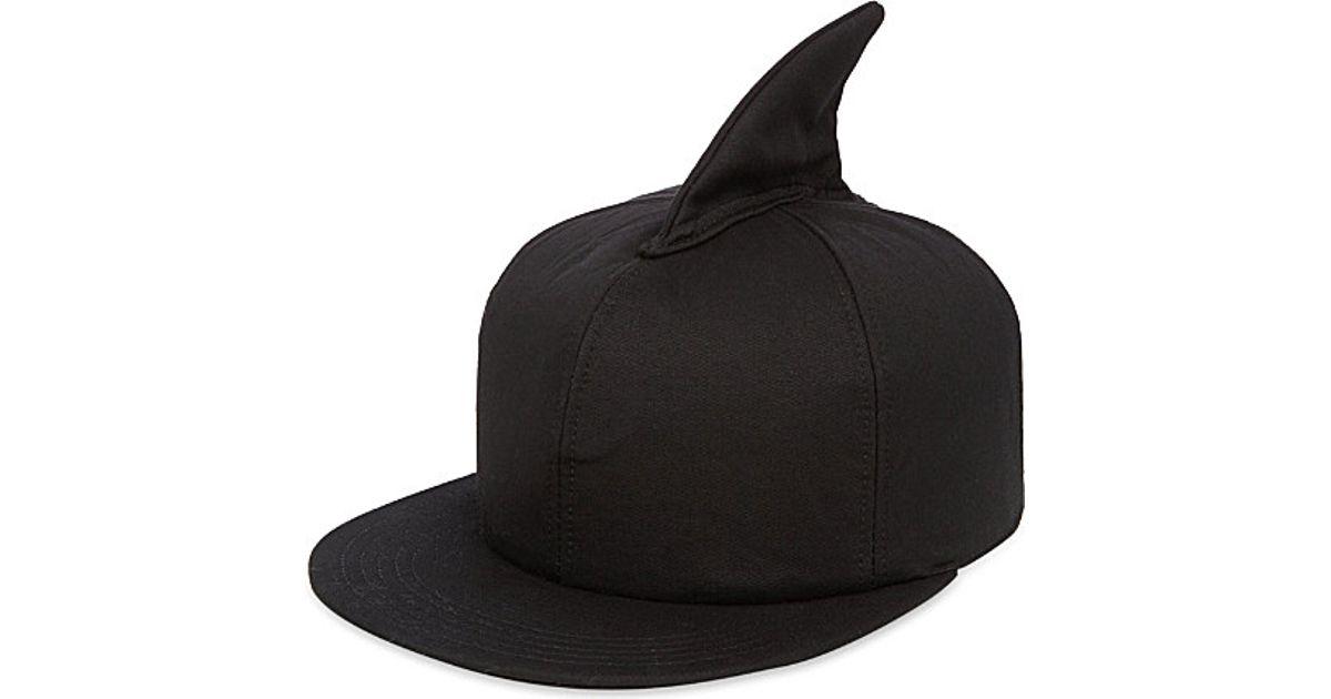 1ed2f7b678edb Federica Moretti Shark Fin Baseball Cap - For Men in Black for Men - Lyst