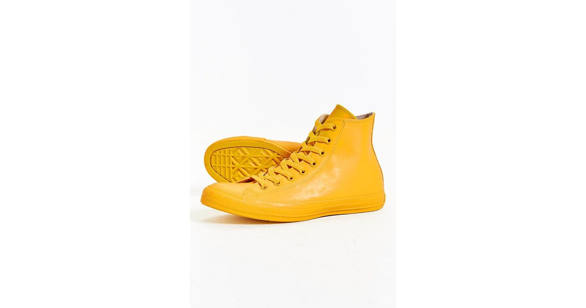 da6d57a3dce056 Lyst - Converse Chuck Taylor All Star Rubber High-top Sneakerboot in Yellow  for Men