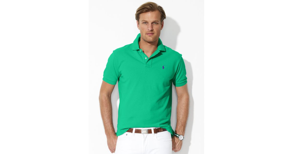 fe61476e inexpensive ellesse mens striped polo shirt 7d319 11904; clearance coupon  code for lyst polo ralph lauren classic fit mesh polo in green for men