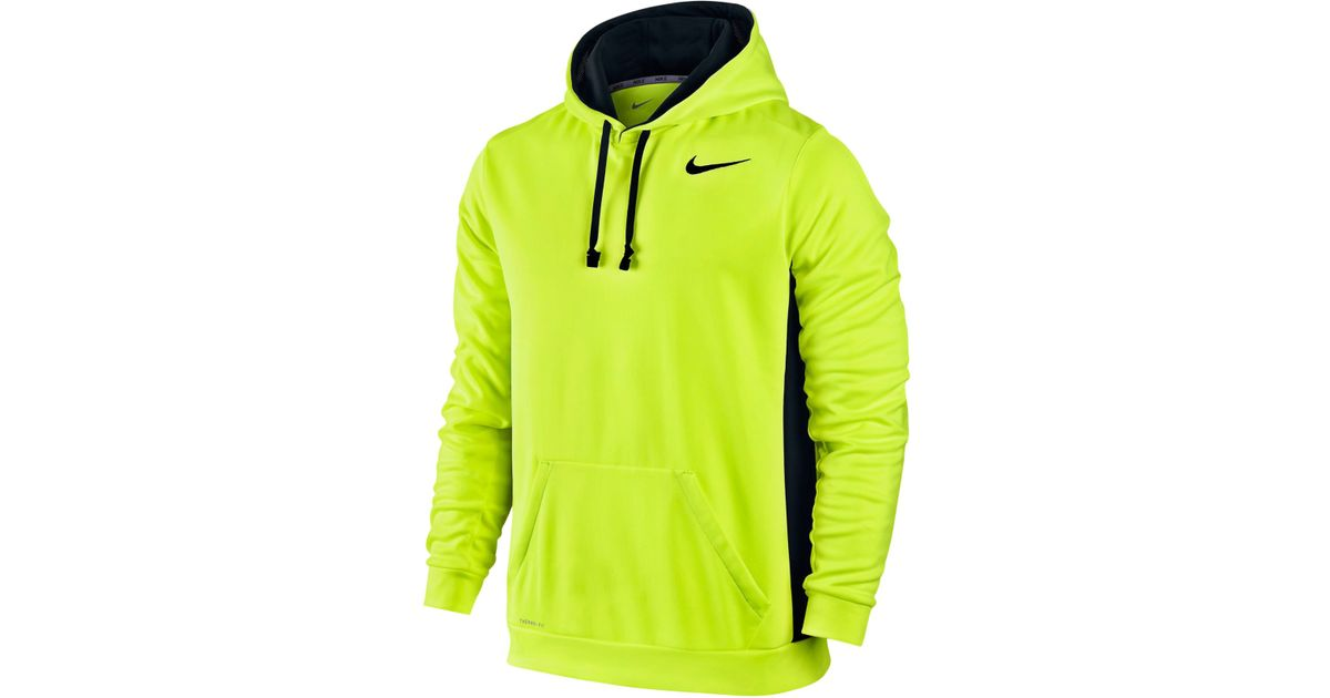 Nike Men S Ko 3 0 Therma Fit Pullover Hoodie In Green For