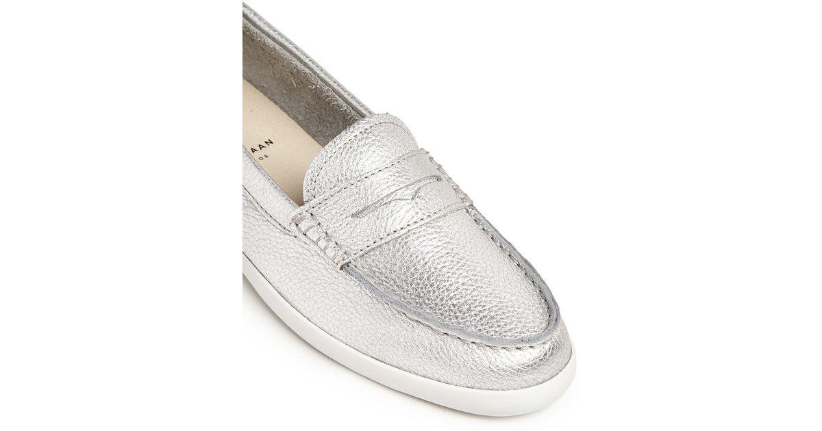 550d6231d1d Lyst - Cole Haan  pinch Weekender  Metallic Leather Penny Loafers in  Metallic