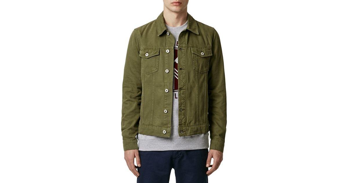 Topman Olive Denim Western Jacket In Green For Men Lyst - Olive Green Denim  Jacket - Images Of Olive Green Denim Jacket. Love The Jean Jacket The Color