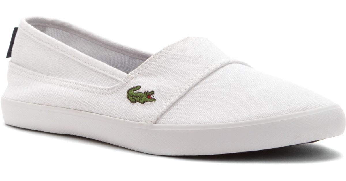 e9cd0d7cd28fa5 Lyst - Lacoste Marice Lcr in White