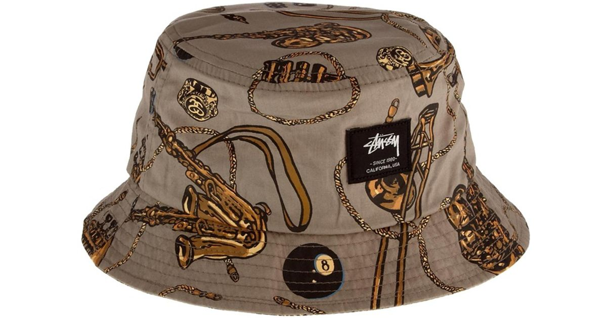cc2088f86fc6d2 ... usa lyst stussy brass bucket hat in natural for men fc1c8 a3453