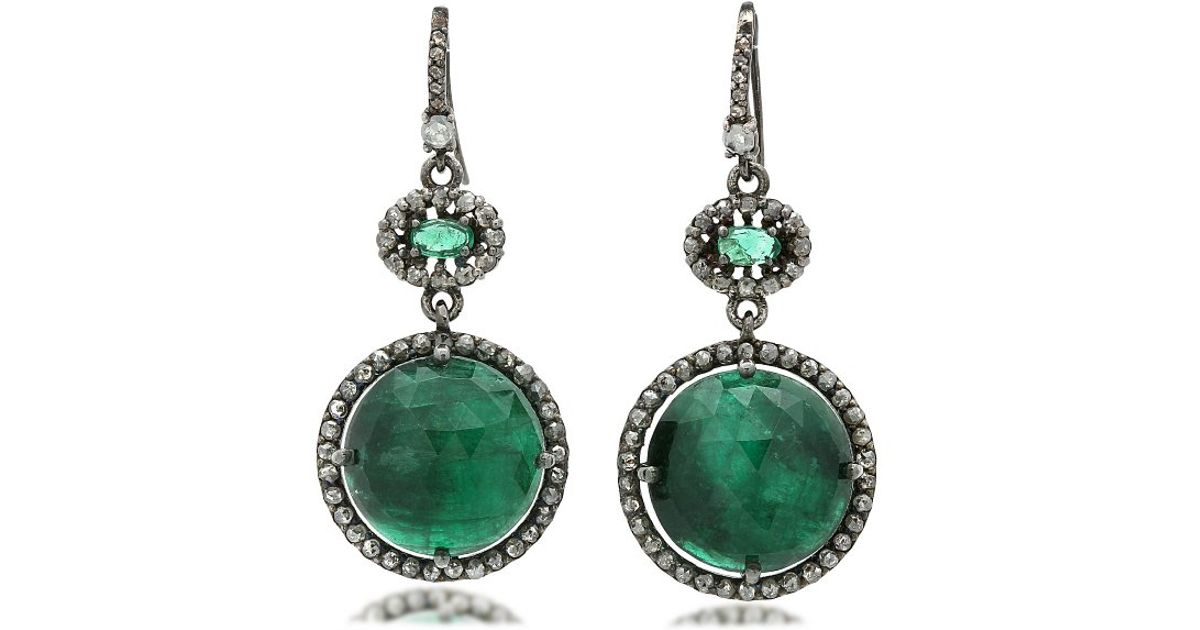 bavna jewelry bavna sterling silver emerald gray chagne white 9201