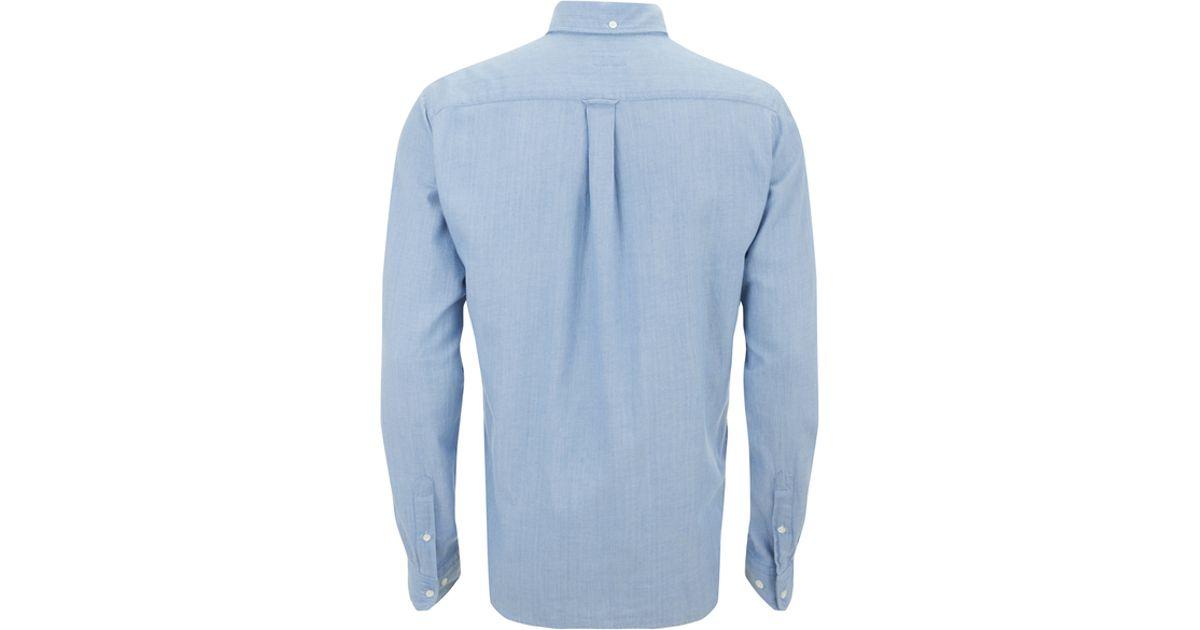 Gant rugger Men's Half Button Pullover Long Sleeve Shirt in Blue ...