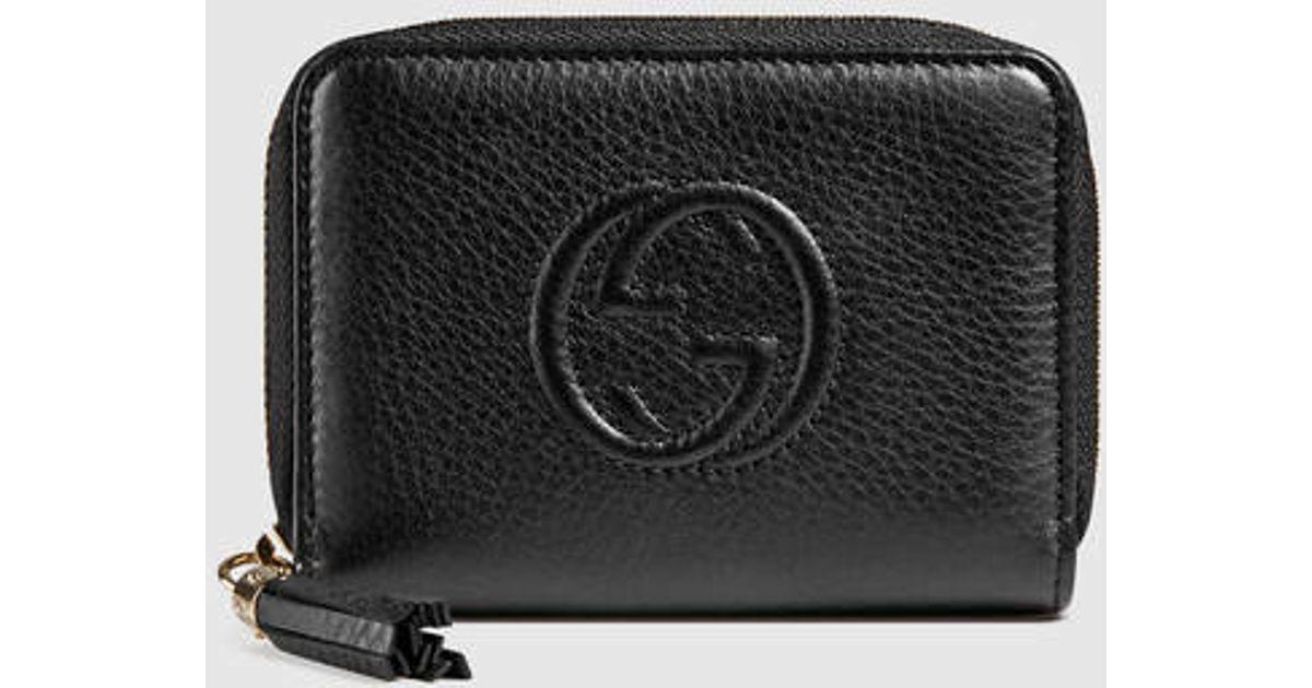 cdf335f4bb5 Lyst - Gucci Soho Leather Disco Wallet in Black