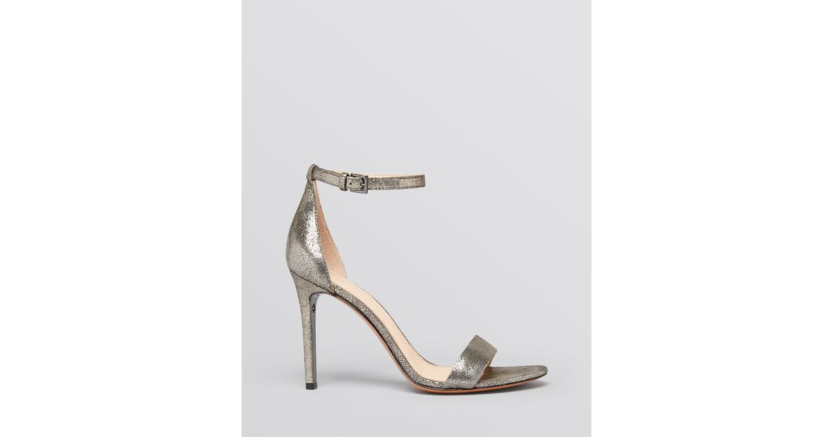 36df8054af9 Lyst - Tory Burch Open Toe Ankle Strap Evening Sandals - Keri High Heel in  Metallic