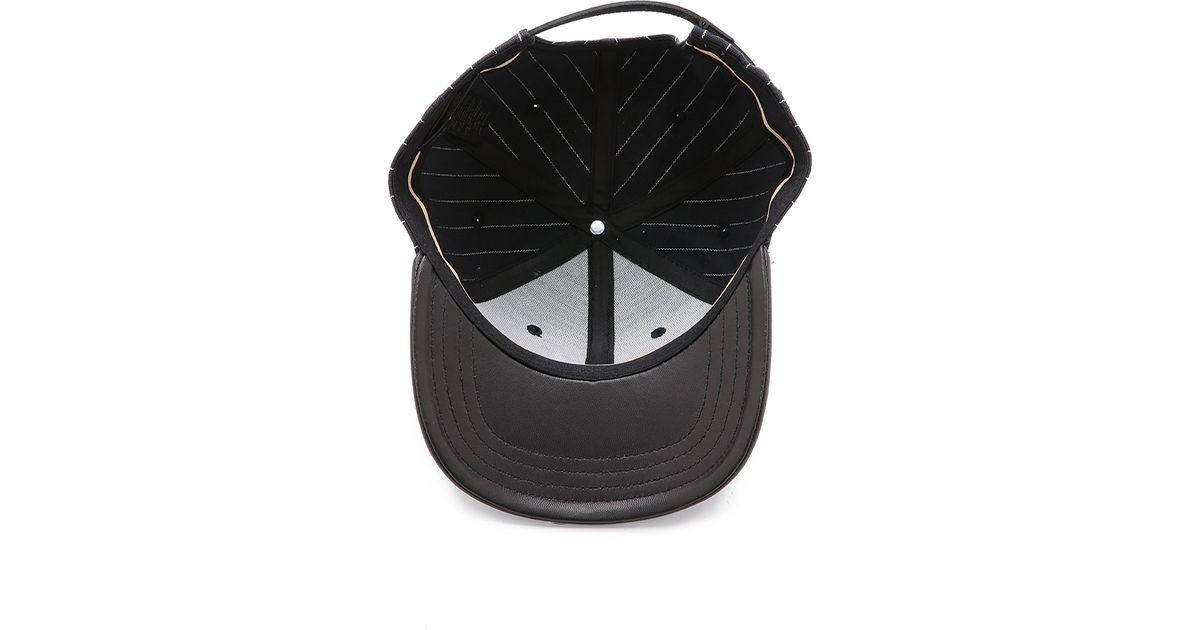 056b898ea67d5 Lyst - Rag   Bone Leather Brim Baseball Cap in Black for Men