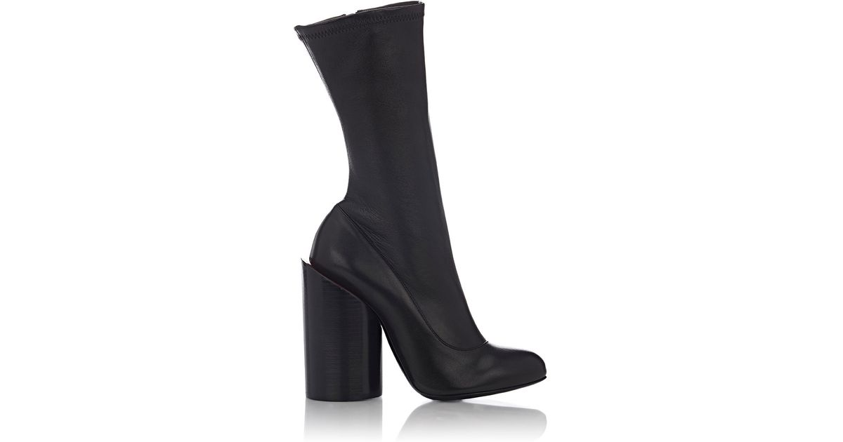 Lyst - Givenchy Oversized-heel Leather Boots in Black e89b43cc7