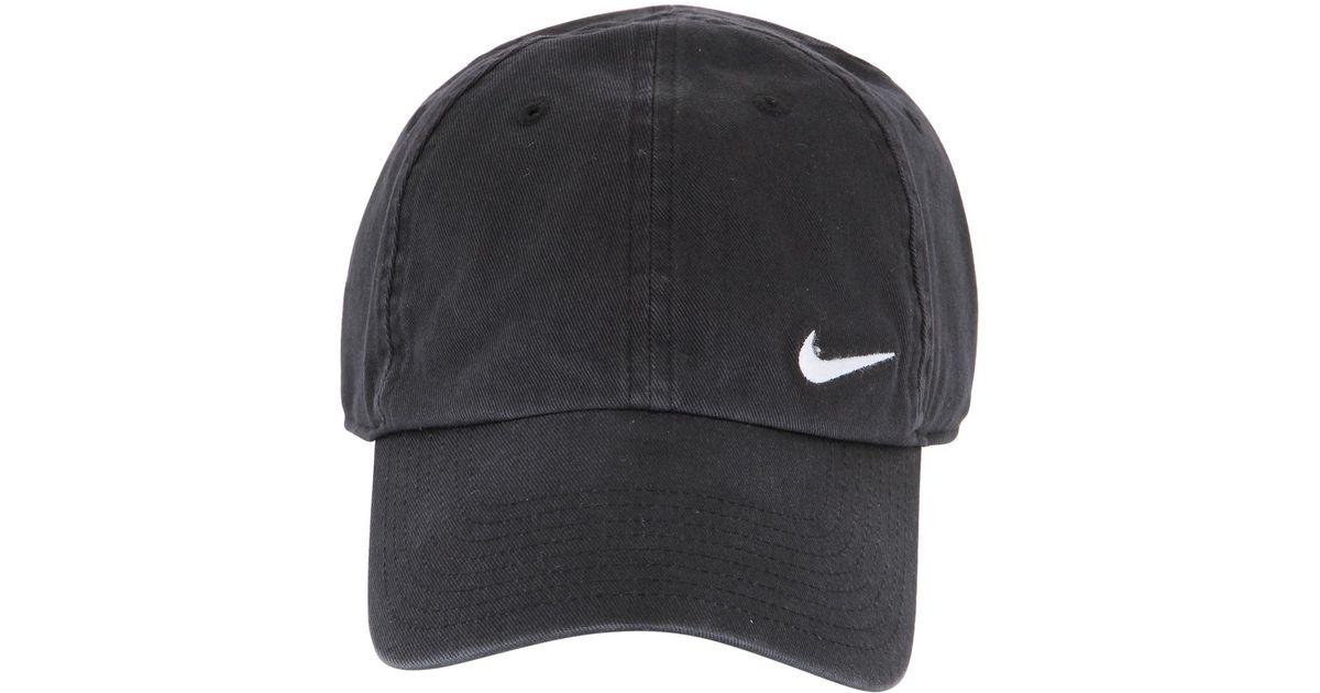 on sale 3d1ef 47be2 ... czech nike swoosh cotton baseball hat in black for men lyst a77cc 2a66c