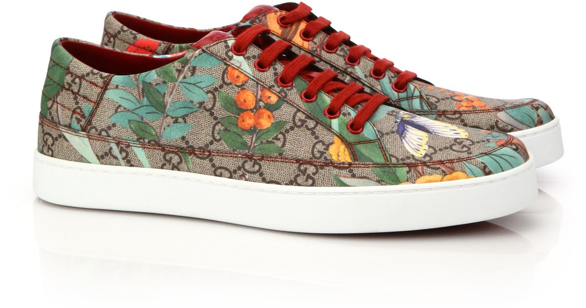 ee11d4729bc Lyst - Gucci Gg Supreme Tian Low-top Sneakers for Men