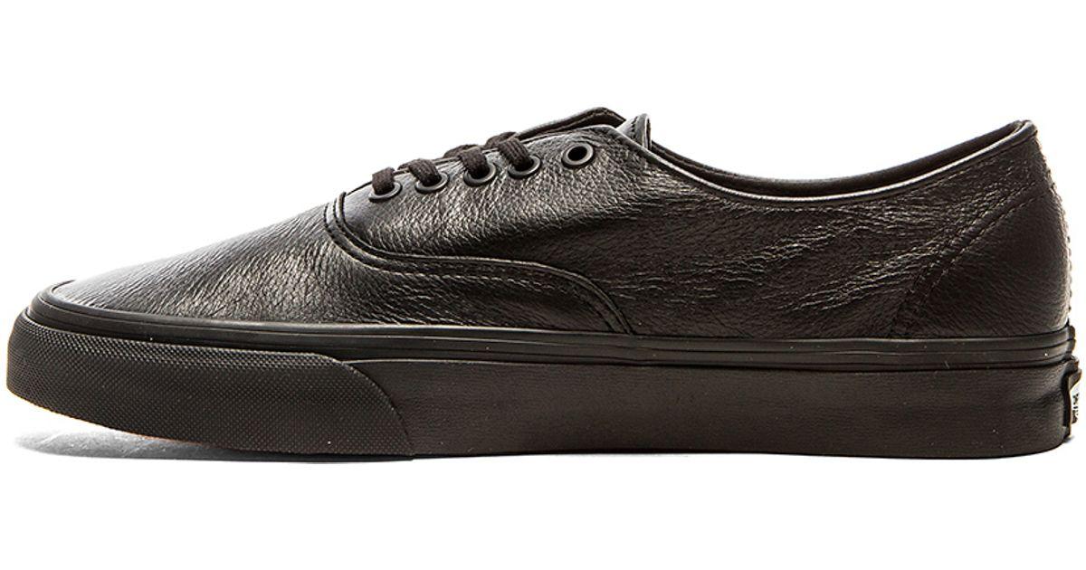 cca77916a94c Lyst - Vans Authentic Decon Premium Leather in Black for Men