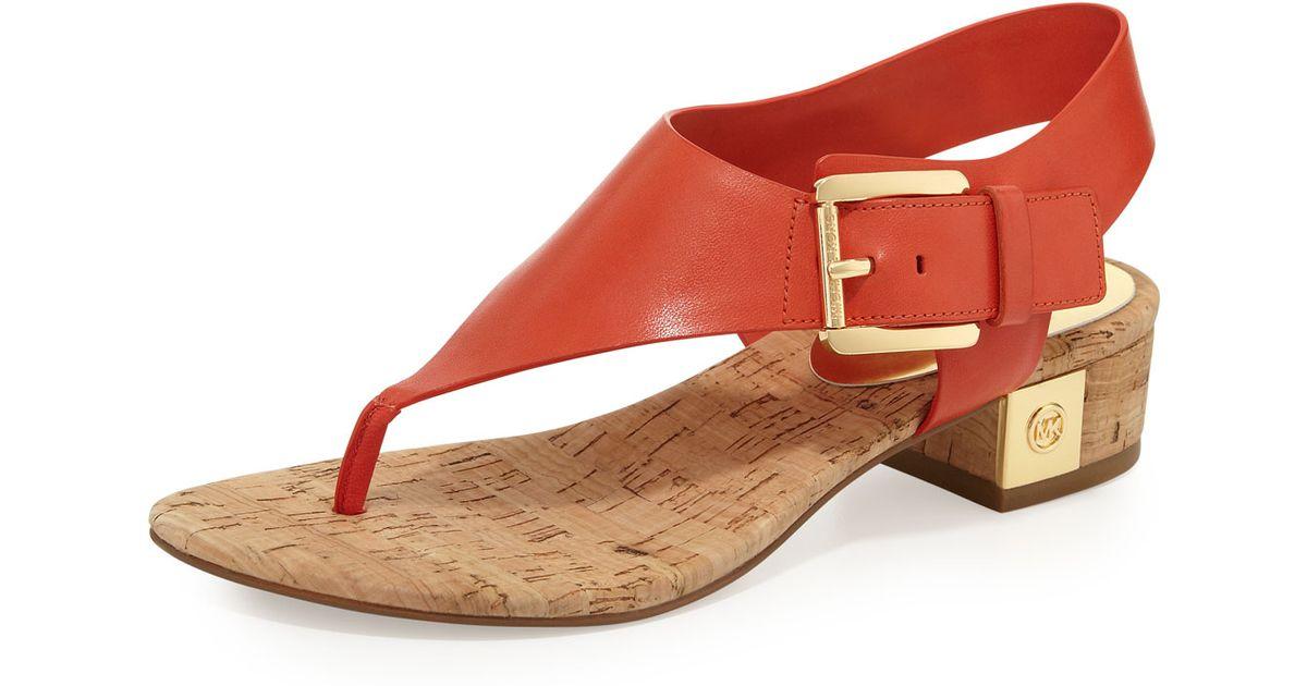 bc9f96d2762 Lyst - MICHAEL Michael Kors London Thong Sandal in Red