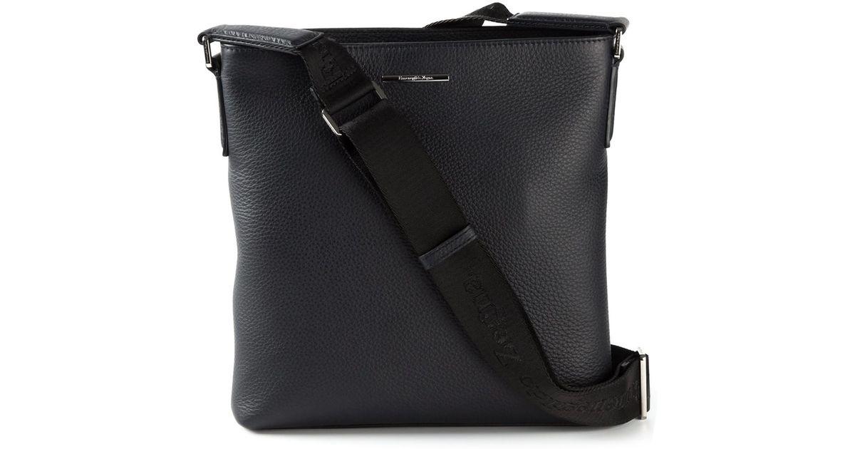 Lyst - Ermenegildo Zegna Small Shoulder Bag in Blue for Men 2d7e2809db5ef