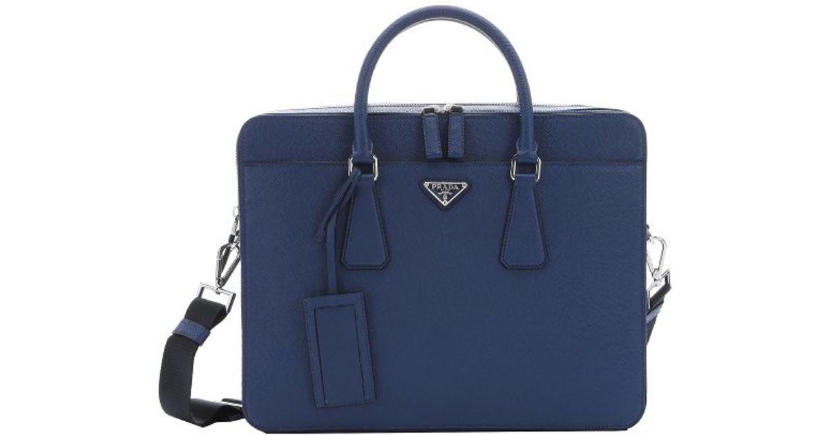 3d3f6b45e5f2 ... where can i buy laptop bag pjlliugp 25409 f00a7 low price prada dark  blue saffiano leather