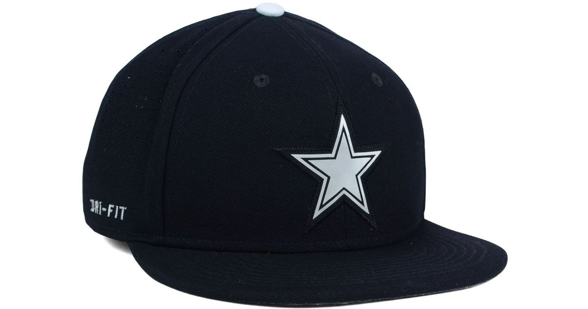 Lyst - Nike Dallas Cowboys True Vapor Fitted Cap in Black for Men bf2560507e08