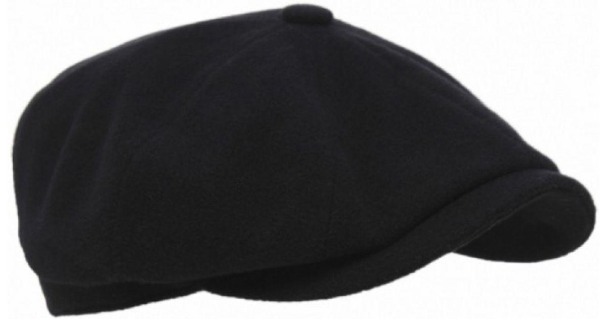 Lyst - Stetson Cashmere Blend Hatteras Flat Cap in Black for Men 8e721fa720c
