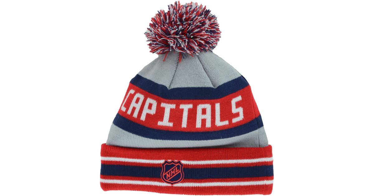 af69a975b0d Lyst - KTZ Washington Capitals Jake Pom Knit Hat in Gray for Men