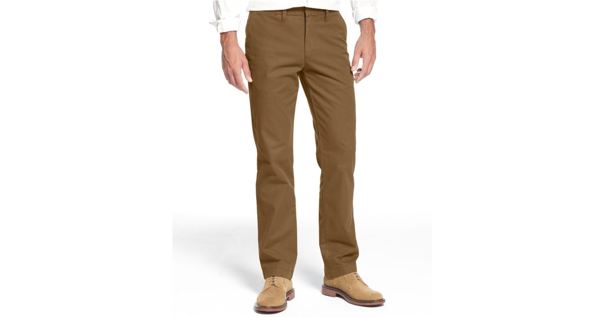 0c7cc4f32 Tommy Hilfiger Mercer Custom-Fit Chino Pants in Brown for Men - Lyst