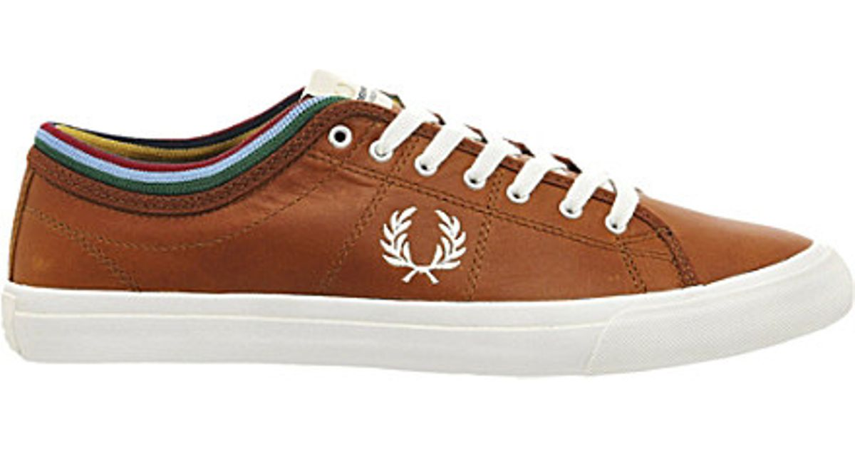 Fred Perry Kendrick Bradley Wiggins Leather Trainers in Brown for Men - Lyst 188fc9e801