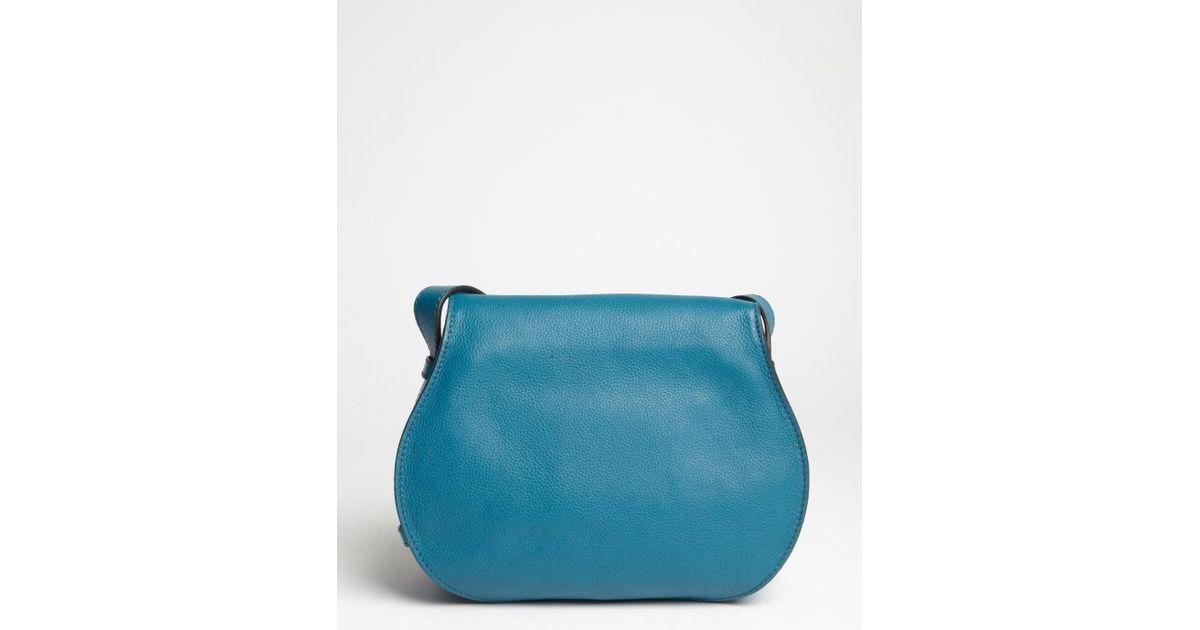 Chlo¨¦ Laguna Blue Lambskin Marcie Crossbody Bag in Blue | Lyst