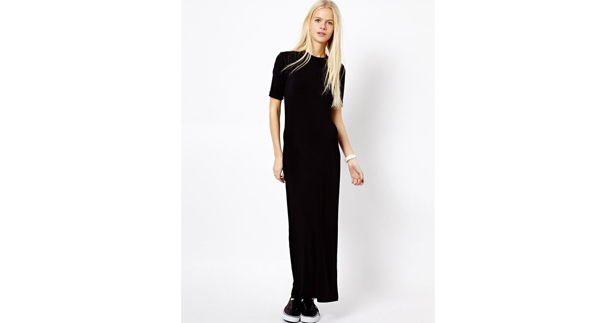 Lyst Monki Tshirt Maxi Dress In Black