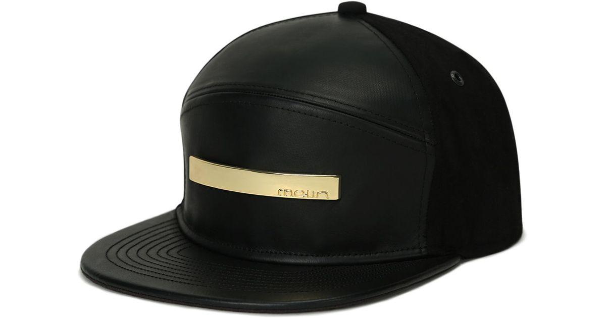53010cb4c52 cheap snapback hats  lyst melin the bar cap in black for men