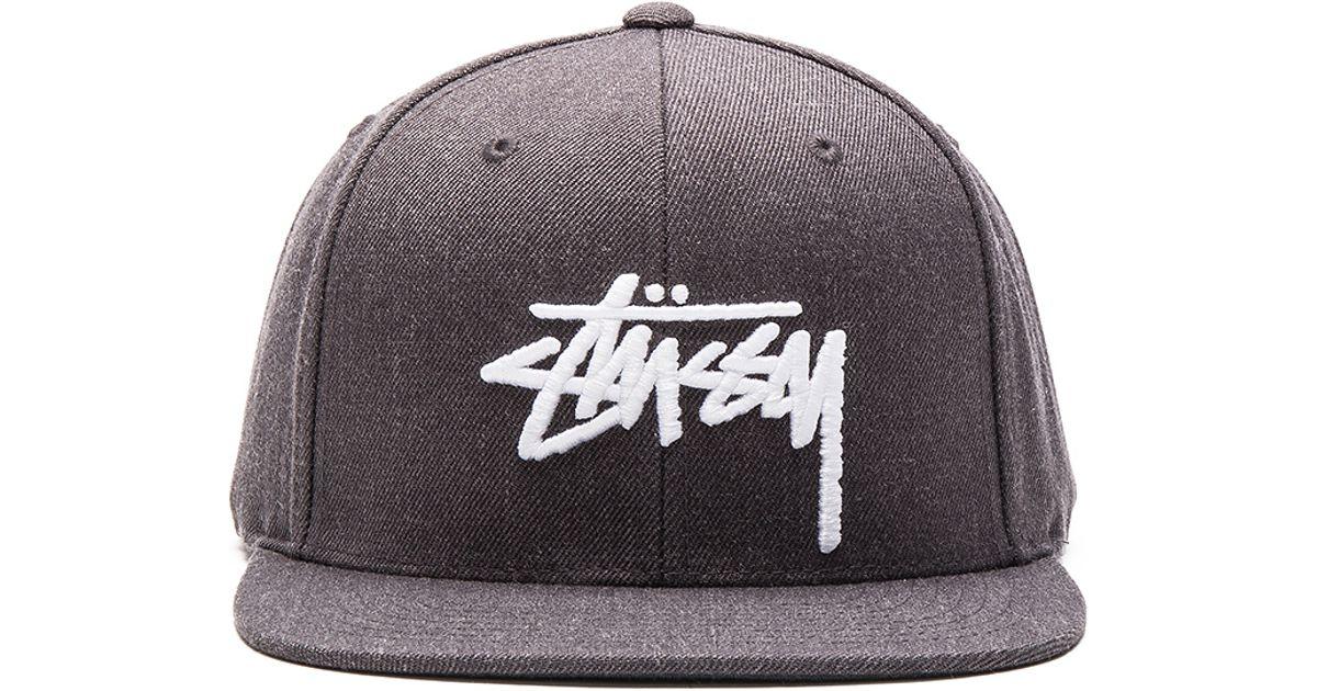 ef68a7892f1 Lyst - Stussy Stock Ho15 Snapback in Gray for Men