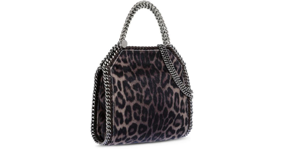 91560504267e Stella McCartney Falabella Leopard Alter Pony Mini Tote Bag - Lyst