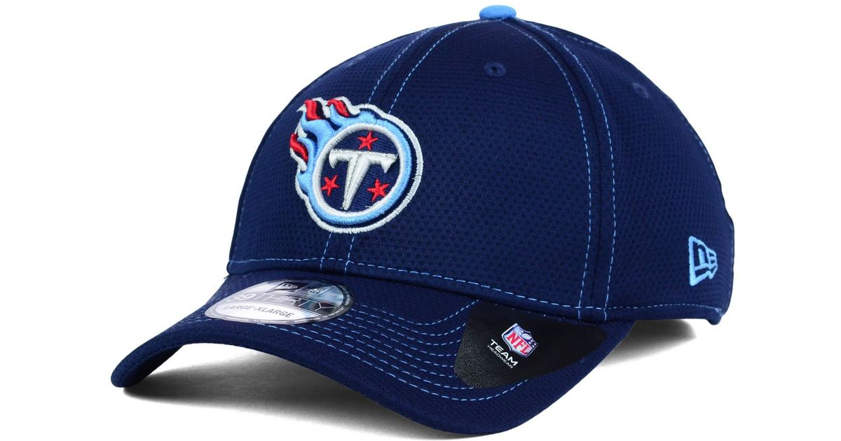 new york cbdc2 8c3b3 ... discount code for lyst ktz tennessee titans contrast 39thirty cap in  blue for men 0d63c 16b06