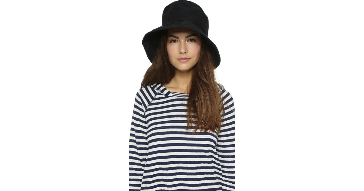 Lyst - Hat Attack Washed Cotton Bucket Hat in Black caa09c4bb1d