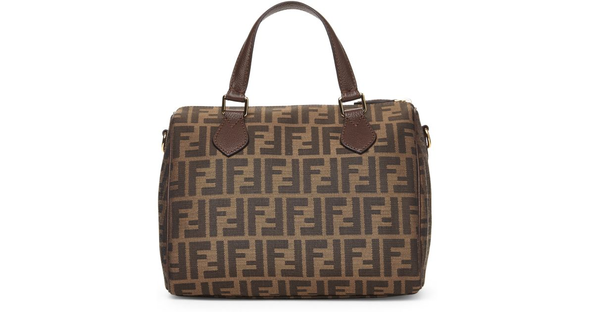 427467d40b8d norway lyst fendi bag bugs small by the way leather boston bag in brown  c0742 2d784  new zealand lyst fendi zucca boston bag in metallic 922c3 05f52