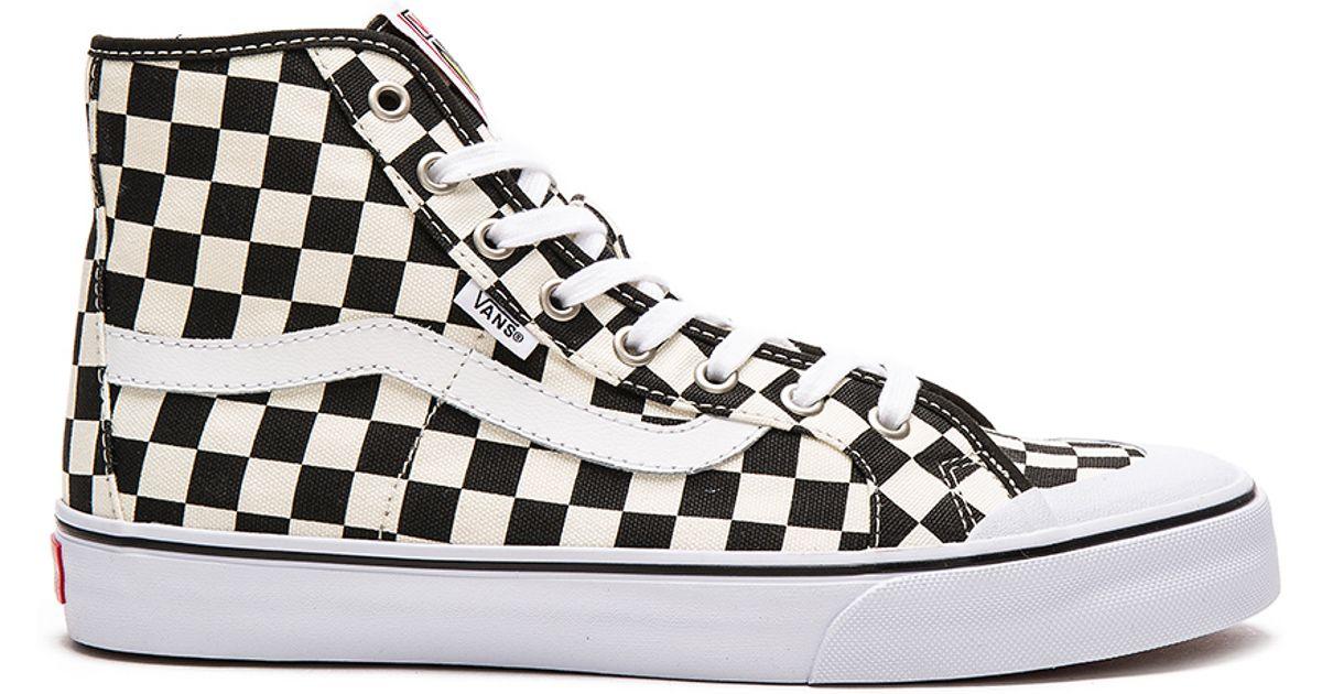 58d792b8226286 Checkerboard Vans Black Hi Ball Sf Lyst In For Men TFKl1Jc