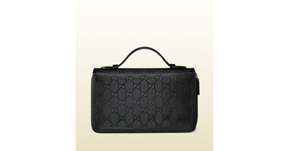 af915cb39593c3 Lyst - Gucci Gg Imprime Travel Document Case in Black for Men
