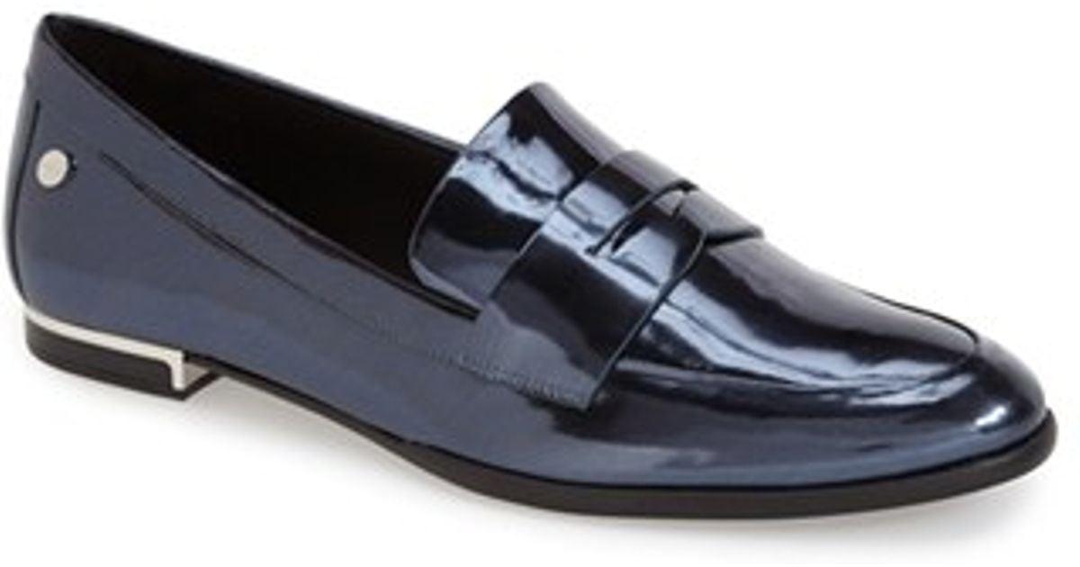 34c149301cc Lyst - Calvin Klein  Celia  Penny Loafer in Blue