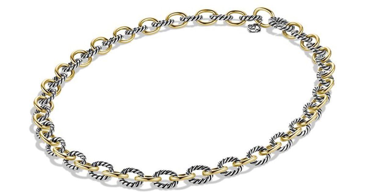 Lyst - David Yurman Medium Oval Link Chain Necklace 30l in Metallic