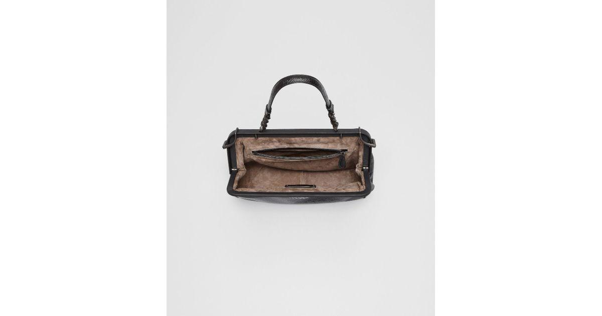 22aaa402b8fd Lyst - Bottega Veneta Nero Madras Chiaroscuro Bag in Black