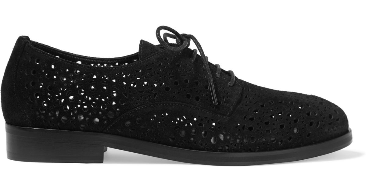 Alaïa Laser-Cut Lace-Up Oxfords outlet Cheapest clearance websites YcAtmg8xBf