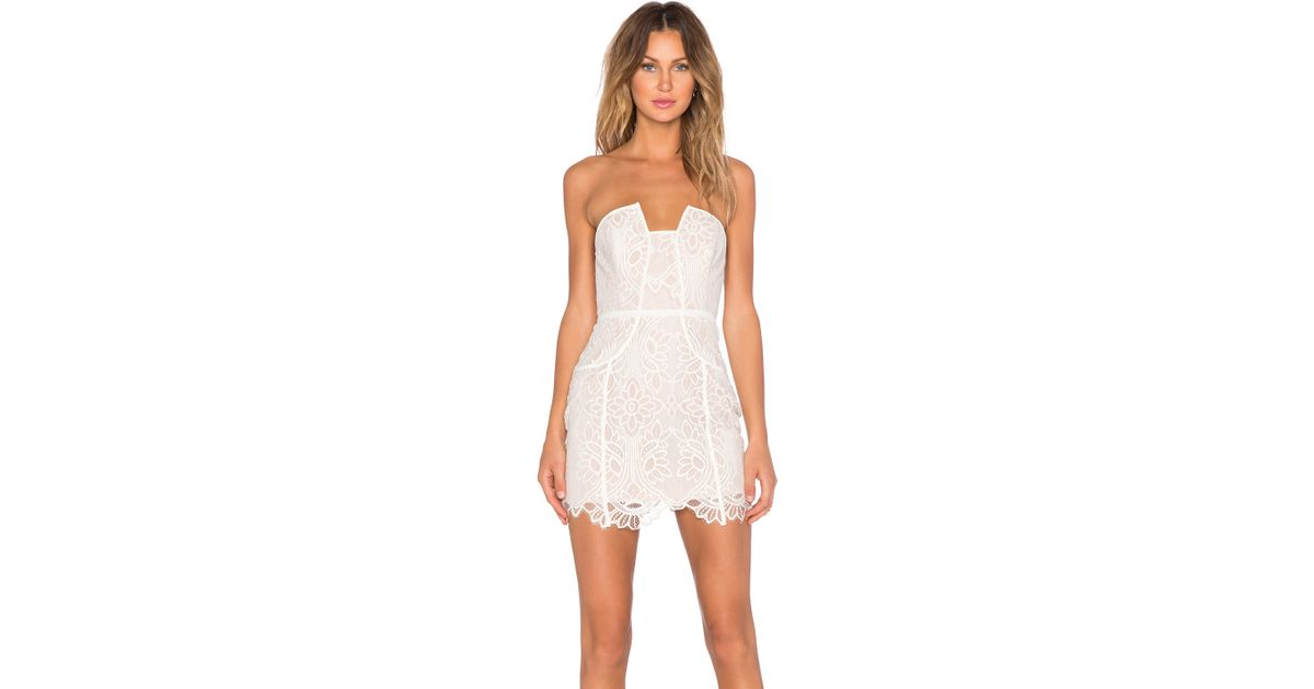 31ccf41b4aeb Lovers + Friends Part Time Lover Mini Dress in White - Lyst