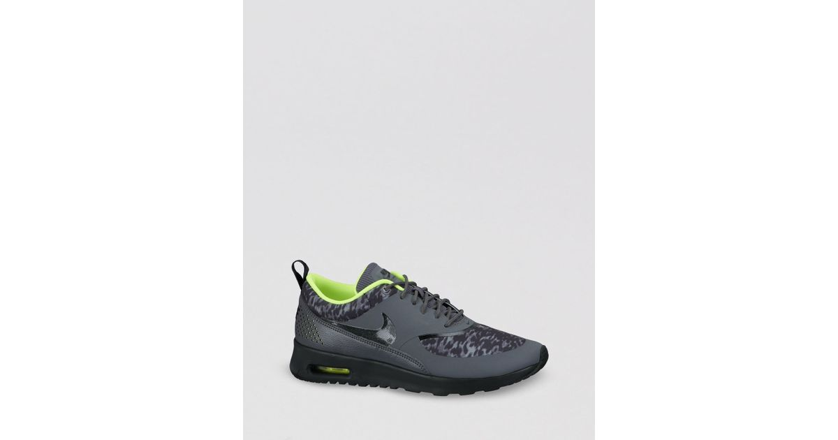 Nike Black Lace Up Sneakers Women'S Air Max Thea Print Lyst