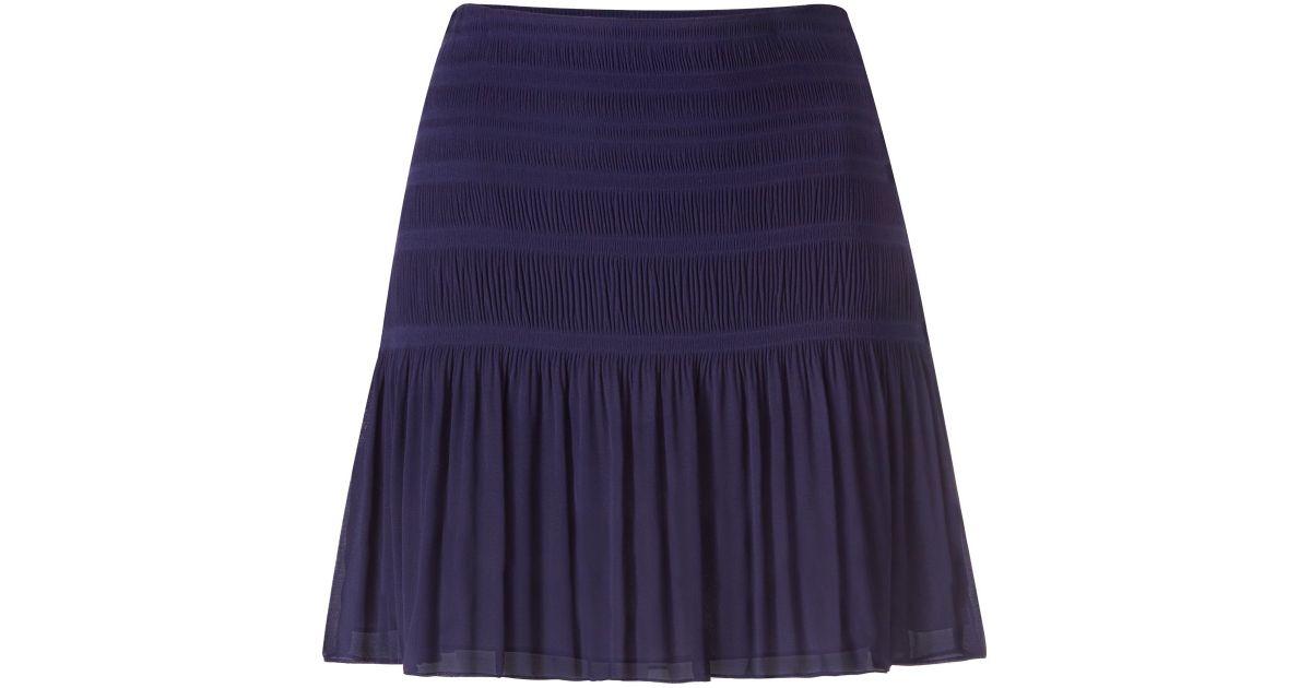 diane furstenberg dvf tayte pleated chiffon skirt in