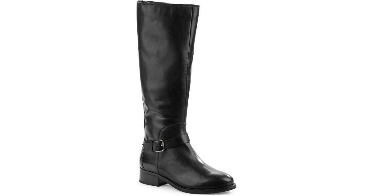 cole haan sonna leather knee high boots in black lyst